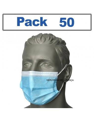 Máscara Cirúrgica descartável (PACK 50)