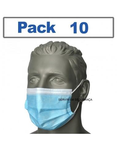 Máscara de boca e nariz / Cirúrgica...