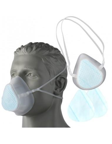 Máscara de silicone KN95 (FFP2) incl....