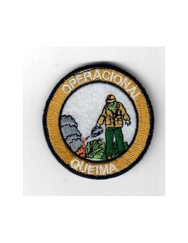 """Emblema bordado C/ velcro """"QUEIMA"""""""