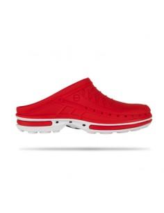 Soca Clog Branco/Vermelho