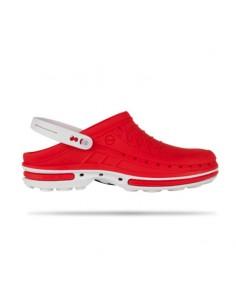 Soca Clog Branco/Vermelho -...