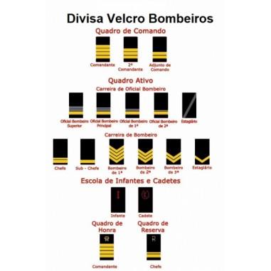 DIVISA VELCRO BOMBEIROS - unidade
