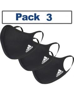 Máscara facial Adidas® Pack 3