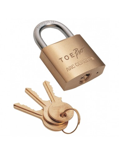 Cadeado de latão 50 mm 3 chaves