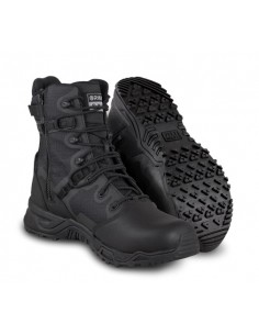 "Bota SWAT Alpha Fury 8"" Polishable Toe Side-Zip - Black"