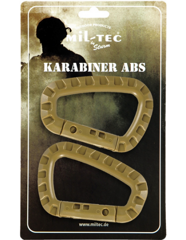 MOSQUETÃO CARABINER ABS . Coyote