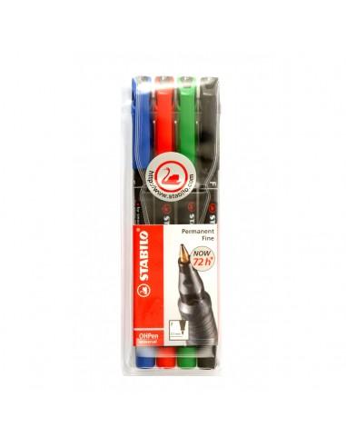 Quatro marcadores de tinta permanente
