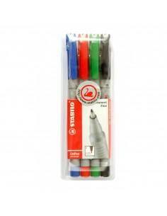 Quatro marcadores de tinta...