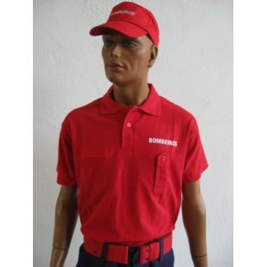 Rotes Kurzarm-Polo-Shirt